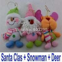 Christmas Tree Ornaments Santa Claus Snowman Deer Rag Doll Toys enfeites de natal Decoration