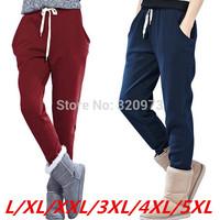 L-5XL size fat women pants 2014 winter new arrival extra plus size harem pants women autumn loose trousers free shipping