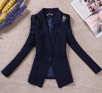 New 2014 women stylish comfortable One button jacket coat suit jacket Ladies large size casual Blazer coat cardigans B1220