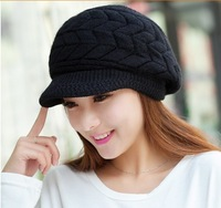Hot 2014 Casual Beanie Thickening Thermal Homies knitted hat Gorro women's rabbit fur cap Hats for women Winter hat Beanies