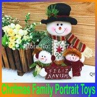 10'' Lovely Idol,Christmas Santa Claus Family Portrait Rag Doll Kid Toys enfeites de natal Decoration Merry Christmas Ornaments