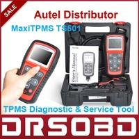 Professional TPMS diagnostic service tool AUTEL MaxiTPMS TS501 activate OEM/Universal TPMS sensors+Gift MV400 digital videoscope