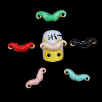 HOT !! 50 PCS/LOT  women Mustache design 3D  DIY nail accessories wholeslae alloy material color mixed top quality
