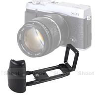 Metal L-shaped Vertical Shoot tripod Quick Release Plate Camera Holder Bracket Grip case for  Fujifilm Fuji X-E2