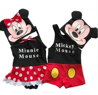 Cute Cartoon Mickey Minnie Swimwear New Baby Boys Girls Swimsuit Beahwear Lovely Babies Swimming Costume Mouse Bathing Suit