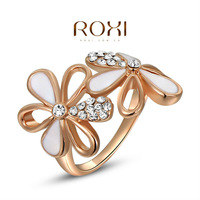 2014 ROXI brands fashion women ring, Austrian Crystals ,white Gold Plated, wedding Ring Jewelry,wholesale