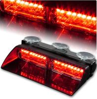 High Intensity LED Windshield Emergency Hazard Warning Strobe Lights - Red  High quality