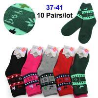 2014 Women's Autumn-Winter Socks Long Warm Socks 5 colors Girl Socks Women  10 Pairs/Lot  Free Shipping