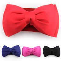 Cummerbund 2014 Most Fashion Women Candy kinds Bow Belts All-match Wide Stretch Waist Elastic Cummerbund Free Shipping