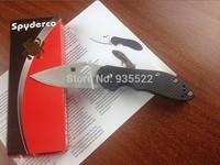 HK free shipping 3PCS New Spyderco C172  Survival Knife folding blade material CTS-XHP Handle material titanium +carbon fiber