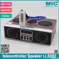 High Quality Mini Sound Box MP3 Player Mobile Speaker Boombox With FM Radio SD Card Reader USB Loudspeakers SU12 Black LLS082