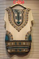 2014 National new plus size women's t-shirt long paragraph sweater mother fertilizer short sleeved summer long top blouse