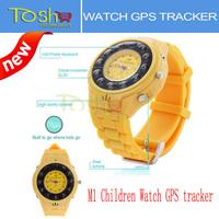 New High Quality Mobile Children Watch GPS Tracker Kids Phone Telephone GPS Alarm M1 Clock Child Anti-lost Tracker Free Shipping