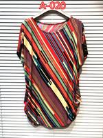 fashion 2014 National new plus size women top blousewomen loose long shirt short-sleeved summer print blouse clothing