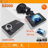 "1 set Built-in G-sensor car dvr k6000 novatek 2.7"" full hd 1080p car dvr recorder camera 140 wide angel"