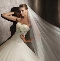 Pristian zouboutin 2014 new arrival diamond tube top bandage wedding dress train wedding dress