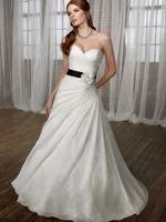 Organza wedding dress elegant black belt lace short trailing wedding dress Wine red princess wedding dress formal dress