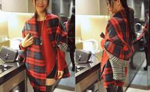 NEW Fashion Women Autum Winter Neck Warm Plaid Long Scarf Wrap Stole Plaid Scottish Reversible Wear