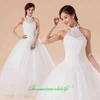 2014 sweet vintage bandage tube top wedding dress princess bride wedding dress vestido de novia vestido de noiva 096
