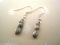 24pair *CUTE PEANUT NUT* Tibetan Silver Earrings SP GIFT BAG 32mm GH0101