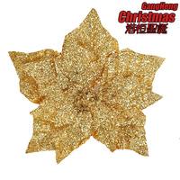 Christmas treedecoration 20cm beautiful gold quality christmas flower