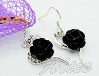 925 Silver Earrings Jewelry Fashion Earrings Fashion Jewelry Crystal Earrings Flower MDE008