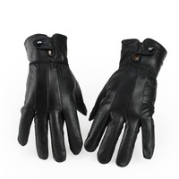 leather gloves winter fashion warm gloves genuine leather women short paragraph