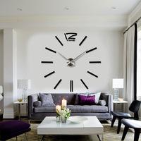 New 3D diy creative wall sticker wall decor clock big wall clock home decoration wall watch unique gift