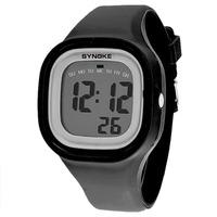 Fashion Women Girl Waterproof Sports Watch LED Digital Silicone Band Wrist Watch Free Shipping and Drop Shipping