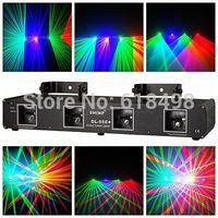 DL-55C+,4 Lens RGB Laser Light Disco DJ Pro Party Stage Club Lazer Beam Show System DMX