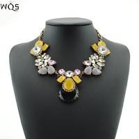 2014 New Brand Designer Flower Fashion Bohemian Mental Luxury Necklace Pendant Chunky Choker Big Necklaces & Pendants Statement