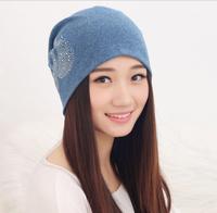 2014 HOT SELL  Swan sets paste drill head cap   Winter warm fuzz piles cap Girl Baotou cap