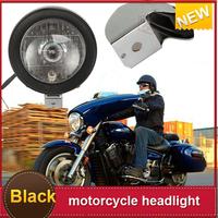 New  Black Motorcycle Headlight  Custom fog light motorcycle led For Yamaha V-Star Vstar V Star XVS 1100
