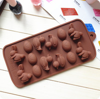 free shipping!Chocolate rabbit duck Mould Silicone Cake Mould Cake Tools Cookie Cutter Fondant Bakeware Tools 01048