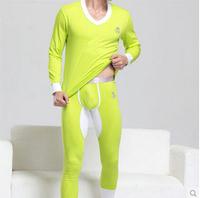 2014 Superbody Men's Cotton Long Johns Suit  Pure CottonThermal Underwear U Convex Design For Men