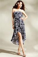 2014 New Top Fashion Vestidos Free Shipping Vestido De Festa Large Yard Friesian Wrapped Chest Flounced Put On A Irregular Dress