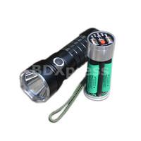 Free Shipping UpGrade Cree XM-L2 U2 LED 5-Mode 1050 Lumens Flashlight with Dual USB Portable Charger (3 x 18650)