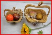 Novelty item fruit plate folding bamboo home storage basket wholesale free shipping