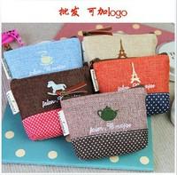 Cotton time Korea stationery coin purse bag wallet student fashion Wallets zakka