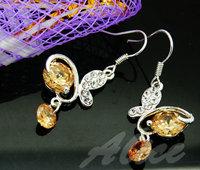 925 Silver Earrings Jewelry Fashion Earrings Fashion Jewelry Crystal Earrings Butterfly MDE028