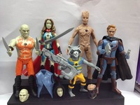 2014 New Movie Guardians of the Galaxy 5pcs/set PVC Action Figures Toy Doll With Light SHD-1099