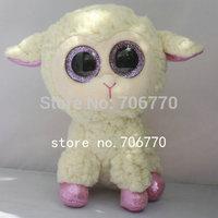 "IN HAND! NEW TY BEANIES BOOS 2014 ORIGINAL PLUSH  ~Daria The Sheep lamb~ no heart tag~ 6"" 15CM plush big eyes doll Stuffed TOY"