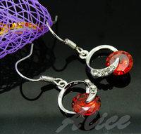 925 Silver Earrings Jewelry Fashion Earrings Fashion Jewelry Crystal Earrings Round MDE031
