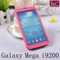 Original I&C Full Touch Screen Window Leather Flip Case For Samsung Galaxy Mega 6.3 I9200 Free Shipping