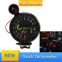 Free Shipping Car Auto Racing Refit Styling DC 12V 7Colors 5'' Inch Tachometer Gauge RPM 11K For 4-.6-. 8- Cylinder Engines
