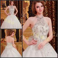 new princess wedding dress 2014 Korean Bra straps trailing wedding bride vestido de novia vestido de noiva a036