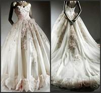 new princess wedding dress 2014 Korean Bra straps trailing wedding bride vestido de novia vestido de noiva a041