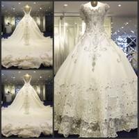 new princess wedding dress 2014 Korean Bra straps trailing wedding bride vestido de novia vestido de noiva a039