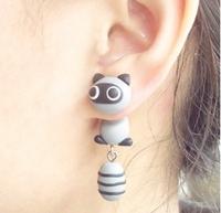 fashion new Raccoons lovely Earring stud earring