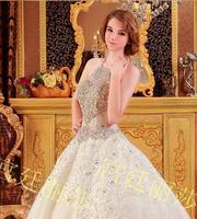 new princess wedding dress 2014 Korean Bra straps trailing wedding bride vestido de novia vestido de noiva a028